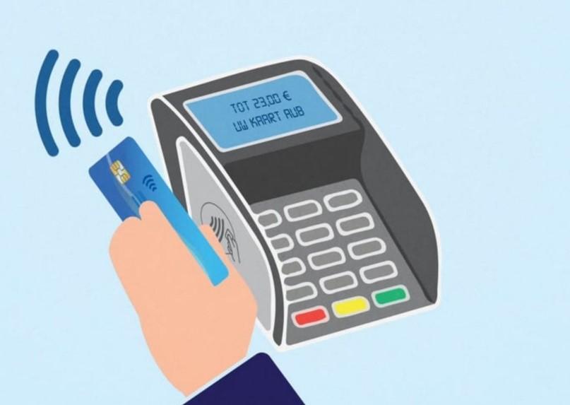 Contactloos betalen werkt door jouw pas dichtbij het pinapparaat te houden