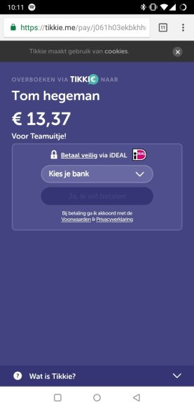 Tikkie ABN AMRO betaalverzoek